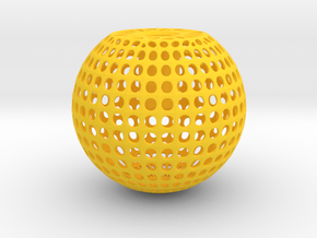 Knob Round Wire in Yellow Processed Versatile Plastic