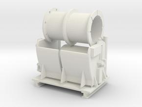 universal winch in White Natural Versatile Plastic: 1:75