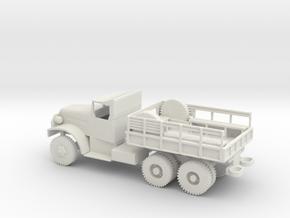 1/87 Scale White 6-ton 6x6 Cargo Truck in White Natural Versatile Plastic
