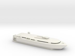 1/600 Scale TSV-1X SPEARHEAD US Army WL in White Natural Versatile Plastic