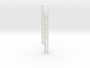 20ft Cage Ladder 1/87 in White Natural Versatile Plastic