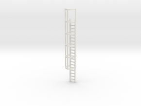 20ft Cage Ladder 1/48 in White Natural Versatile Plastic