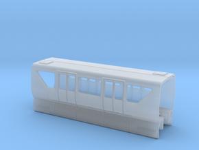 Monorail Bombardier Mark VI Car Body N 1:160 in Smooth Fine Detail Plastic