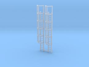 20ft Cage Ladder (x2) 1/120 in Smooth Fine Detail Plastic