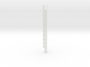 40ft Cage Ladder 1/100 in White Natural Versatile Plastic