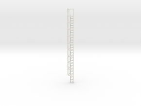 40ft Cage Ladder 1/56 in White Natural Versatile Plastic