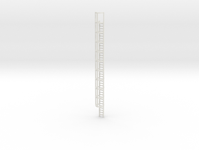 40ft Cage Ladder 1/43 in White Natural Versatile Plastic