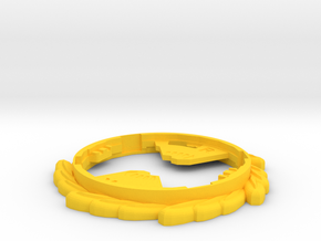 Immortal Ring in Yellow Processed Versatile Plastic