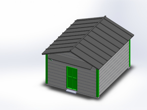 TOOL SHED in White Natural Versatile Plastic