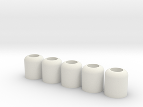 Big Nub - 5 Pack in White Natural Versatile Plastic