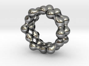 Liquid Ring in Fine Detail Polished Silver: 7.25 / 54.625