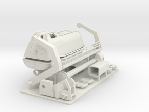 lifeboat with davit, can be made functional LH in White Natural Versatile Plastic: 1:75