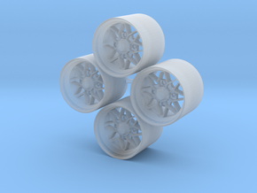 14'' Ame 182FR wheels in 1/24 scale in Smooth Fine Detail Plastic