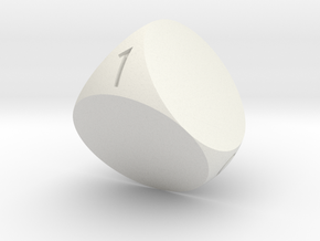 D4 with Special fonts and size in White Natural Versatile Plastic