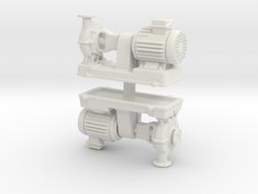 Motor Pump (x2) 1/76 in White Natural Versatile Plastic