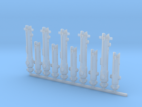 Ls Ahsoka Straight 0.45, 1/6, 1/12, 1/18 in Smoothest Fine Detail Plastic: 1:12