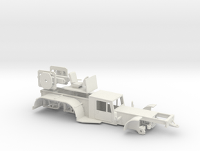 1/64th Long Load Steer Car  in White Natural Versatile Plastic