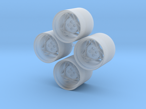 13'' Crossline AD-SCX wheels in 1/24 scale in Smooth Fine Detail Plastic