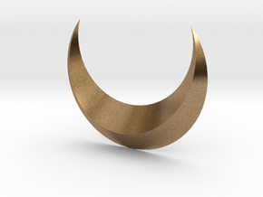 Moon in Natural Brass