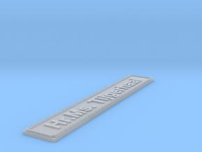 Nameplate Hr.Ms. Tijgerhaai in Smoothest Fine Detail Plastic
