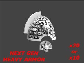 Deathvigil Aggressive Shoulderpad Sprue 2 in Smooth Fine Detail Plastic: Large