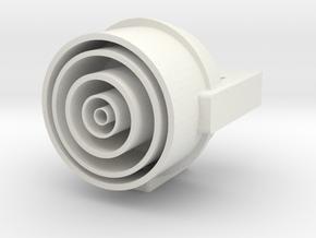 650 main deflector housing1 in White Natural Versatile Plastic