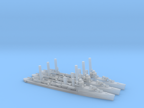 US Farragut-Class Destroyer (x3) in Smooth Fine Detail Plastic