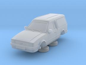 Ford Escort Mk3 1-87 2 Door Large Van in Smooth Fine Detail Plastic