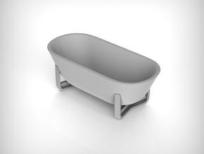 Moderm Bathtube 01. 1:35 Scale  in White Natural Versatile Plastic