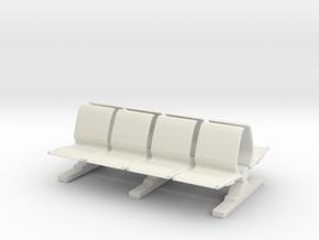 8 Waiting Room Seats 1/64 in White Natural Versatile Plastic