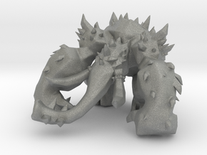Shellephant monster 50mm DnD miniature games rpg in Gray PA12