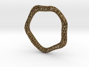 Irregular Bracelet (Size M) in Natural Bronze