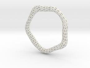 Irregular Bracelet (Size XL) in White Natural Versatile Plastic