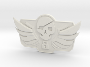1/3 McCree Blackwatch Belt Emblem in White Natural Versatile Plastic