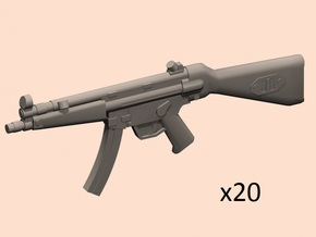 1/30 scale MP5A4 in Smoothest Fine Detail Plastic