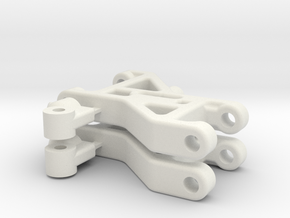 Team Associated RC10DS 8810 front arms only in White Natural Versatile Plastic