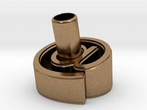 At Pen Holder (S) in Natural Brass