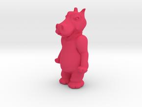 happy hippo in Pink Processed Versatile Plastic