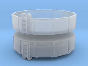 15ft Swimming Pool (x2) 1/285 in Smooth Fine Detail Plastic