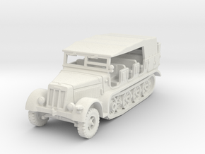 Sdkfz 7 early (covered) 1/87 in White Natural Versatile Plastic