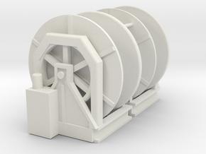 """winch / storage """"Fairmount"""" 2 in White Natural Versatile Plastic: 1:75"""