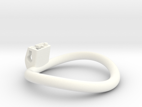 Cherry Keeper Ring - 66x60mm Wide Oval -12° ~63mm in White Processed Versatile Plastic