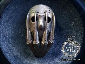 VS Pendant ⛧ VIL ⛧ in Polished Bronzed-Silver Steel: Small