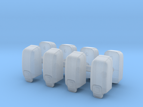 Hand Sanitizer Dispenser (x8) 1/43 in Smooth Fine Detail Plastic