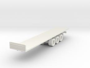 Flatbed Trailer 1/100 in White Natural Versatile Plastic