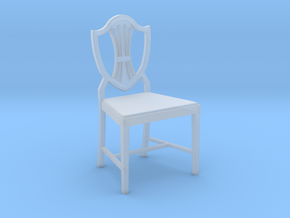 1:24 Shield Back Chair in Smooth Fine Detail Plastic