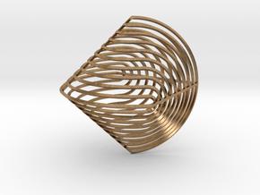 Sphericon Z in Natural Brass