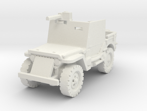 Jeep Willys Armored 1/87 in White Natural Versatile Plastic
