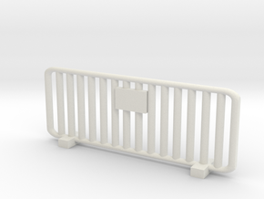 Crowd Control Barrier 1/24 in White Natural Versatile Plastic