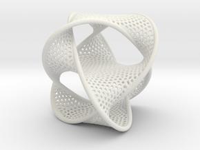 Borrometal (fine hexagonal mesh) in White Natural Versatile Plastic